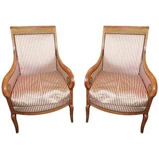Pair of Restoration Armchairs For Sale
