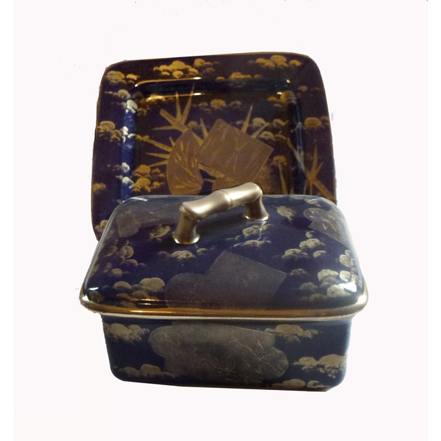 American Aesthetic Movement Porcelain Box by Ott & Brewer For Sale In New York - Image 6 of 8