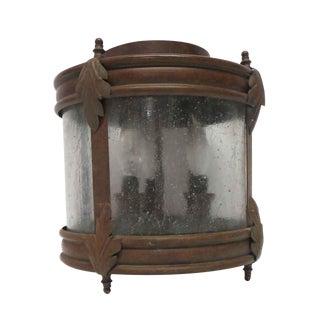 Vintage Copper Finish Steel Surface Mount Light For Sale