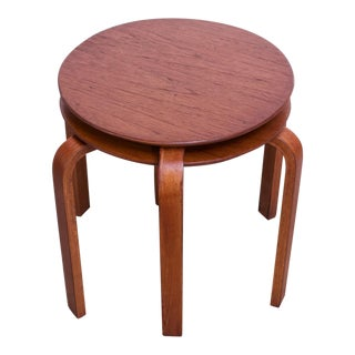 Danish Modern Bent Teakwood Stacking Stools / Accent Tables - a Pair For Sale