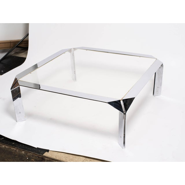 DIA - Design Institute America Design Institute of America Chrome Coffee Table For Sale - Image 4 of 8