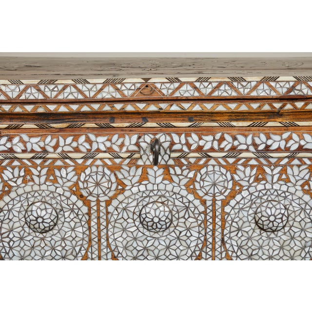 19th Century Syrian Inlaid Wedding Chest For Sale - Image 9 of 10