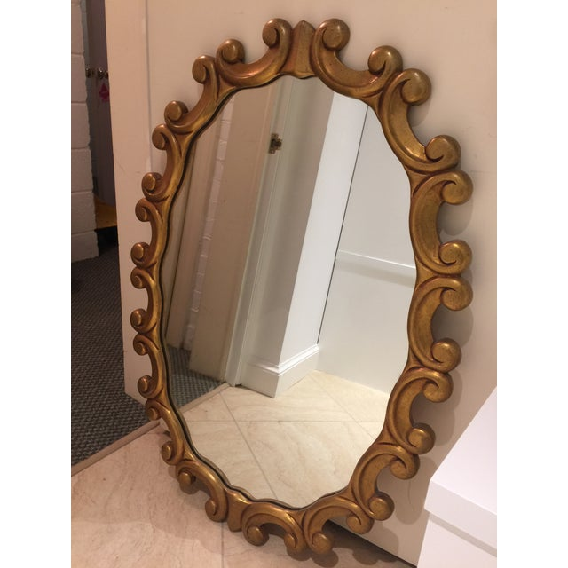 Oval Gold Scroll Mirror - Image 4 of 5