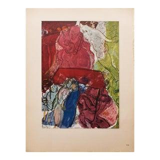 "1947 Marc Chagall Original Period ""Mariage"" Lithograph, C. O. A. For Sale"