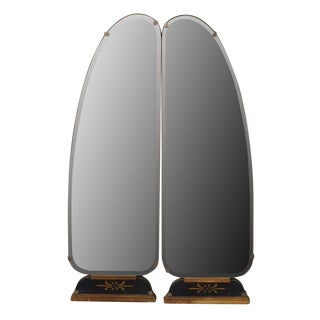 Art Deco Vanity Mirrored Panels - A Pair For Sale
