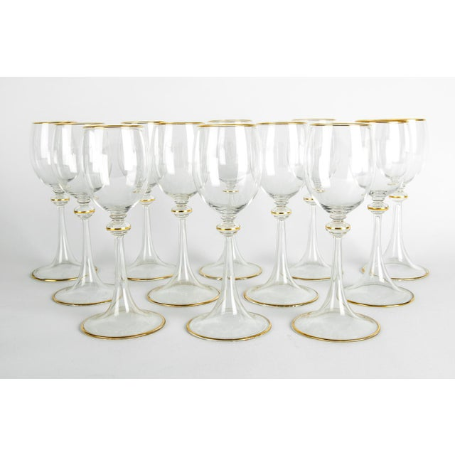 American Classical Vintage Baccarat Crystal Glassware - Set of 14 For Sale - Image 3 of 7