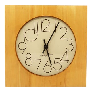 Mid-Century Modern Seth Thomas Wall Clock For Sale