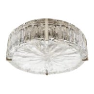 Marlon Ceiling Flush Mount With Glass Shade in Nickel For Sale