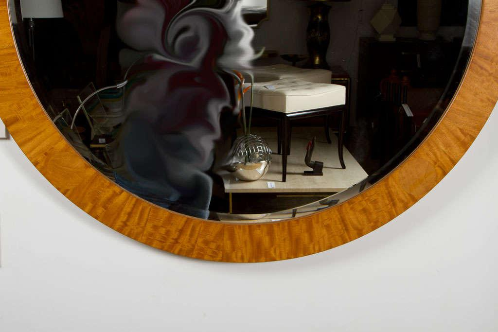 Baker Furniture Company Post Modern Parquetry Prima Vera Mirror By Charles  Pfister For Baker Furniture Co