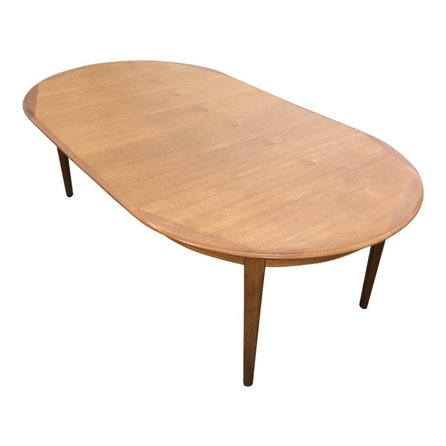 Danish Teak Round/Oval Dining Table by Falster For Sale