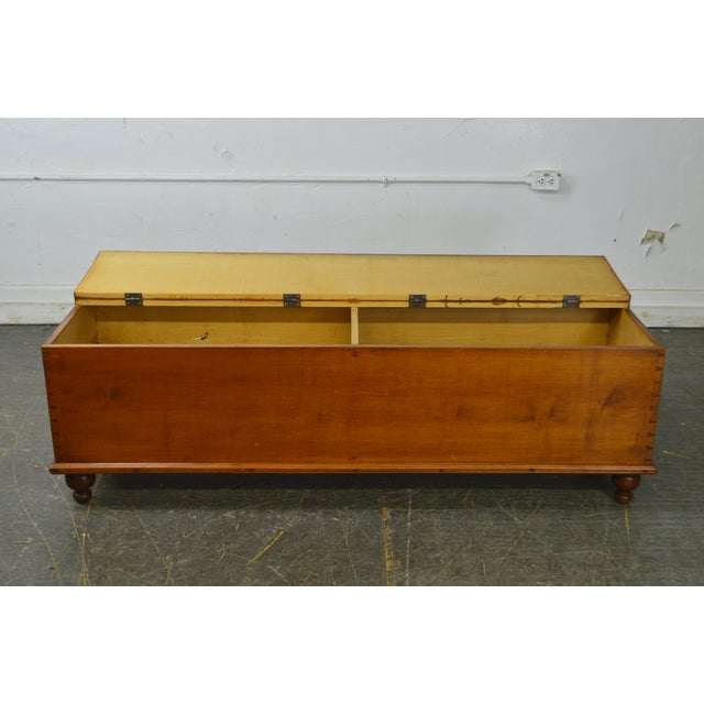 Country Antique 19th Century Poplar Dovetailed Lidded Chest Wood Box For Sale - Image 4 of 12