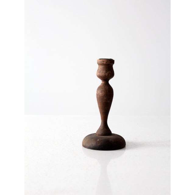 Antique Wooden Candle Holder - Image 3 of 6