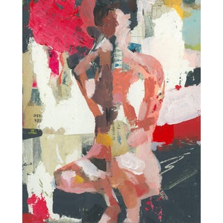 Abstract Mixed Media Nude Painting by Donna Weathers For Sale