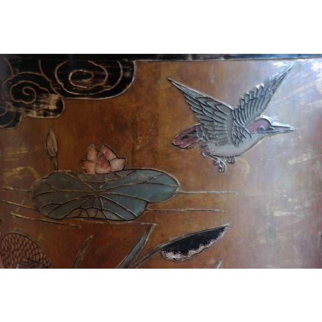 Asian Hand Painted Side Tables - A Pair - Image 6 of 6
