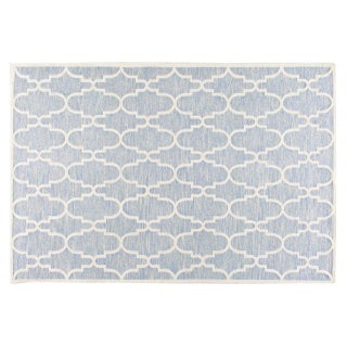 Stark Studio Rugs Contemporary Linen Soumak Rug - 6′ × 9′ For Sale