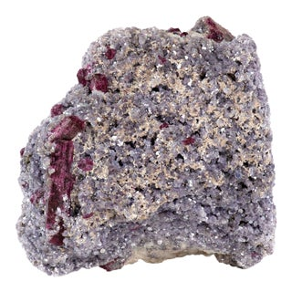 Pink Tourmaline & Lepidolite Crystal For Sale