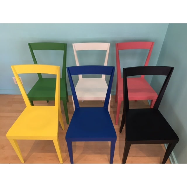 Gio Ponti Livia Chairs by Gio Ponti for l'Abbate - Set of 6 For Sale - Image 4 of 9