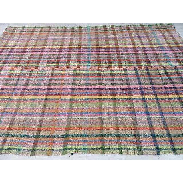 Vintage Turkish Colorful Rag Rug - 7′8″ × 10′8″ - Image 4 of 6