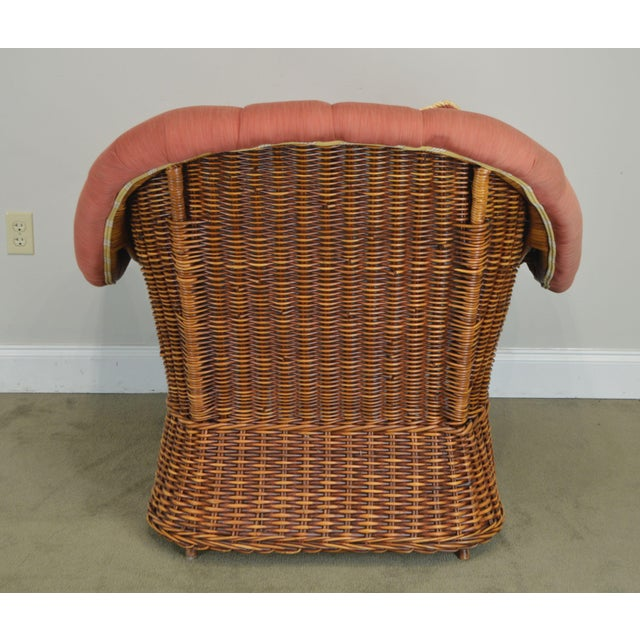 Pierce Martin Quality Pair Rolled Arm Wicker Lounge Chairs For Sale In Philadelphia - Image 6 of 13