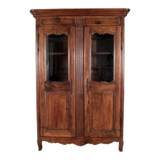 18th Century Louis XIV French Walnut Armoire For Sale