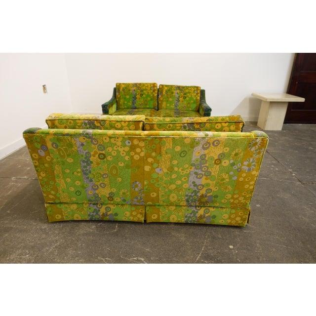 Mid Century Modern Loveseats Upholstered in Jack Lenor Larsen Fabric -A Pair For Sale - Image 4 of 8