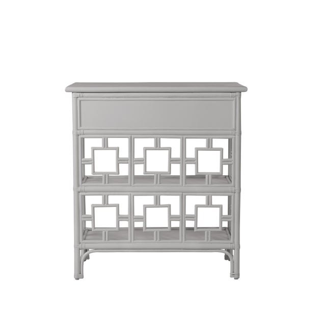 David Francis Sobe End Table - Light Gray For Sale - Image 4 of 6
