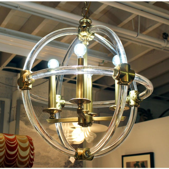 Globe Pedant Light Fixture For Sale - Image 4 of 8
