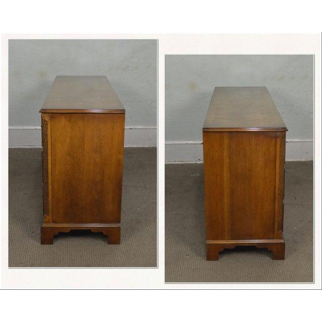 *STORE ITEM #: 18299 Baker Vintage Burl Wood Chippendale Style Dresser AGE / ORIGIN: Approx. 40 years, America DETAILS /...