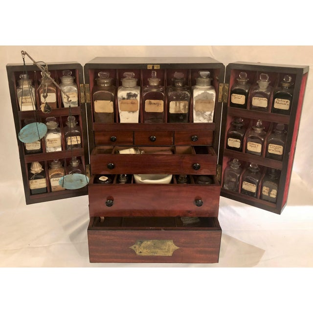 Late 19th Century Antique English Apothecary Chest, Circa 1880. For Sale - Image 5 of 9