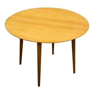 Round Beech Coffee Table by Elias Svedberg for Nordiska Kompaniet For Sale