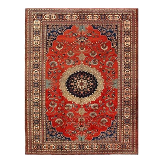 Rust Persian Antique Tabriz 9'11'' X 13 For Sale