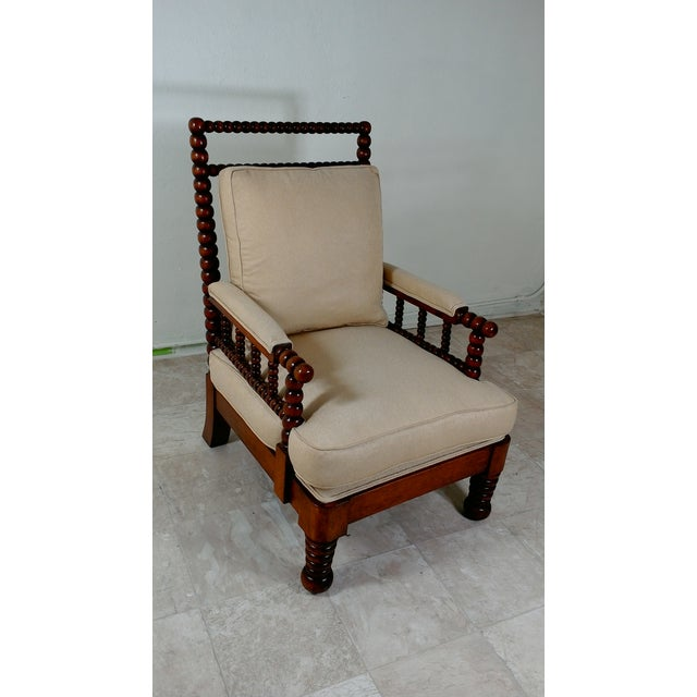 1980s Robert Scott Walnut Accent Chair For Sale - Image 11 of 11