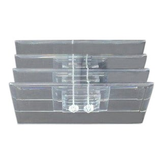 1970s Mid-Century Modern Rectangular Glass Top Coffee Table For Sale