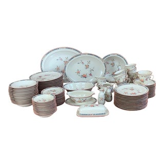"""1980s """"China Song"""" Porcelain Service for 12 Plus Serving Pieces by Noritake - 83 Piece Set For Sale"""