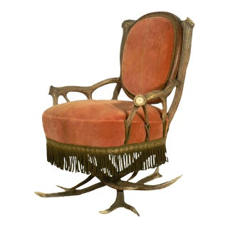 Antler Easy Chair Austria Ca. 1880 For Sale