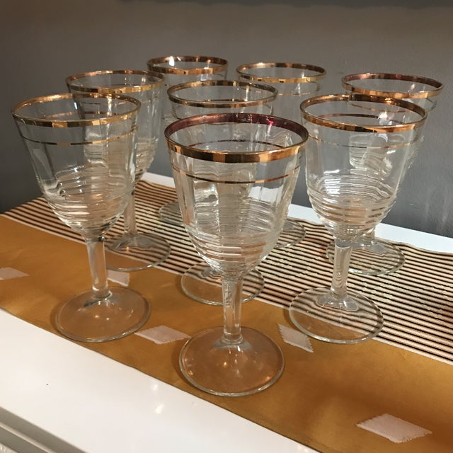 Gold Rimmed Glasses - Set of 8 - Image 4 of 6