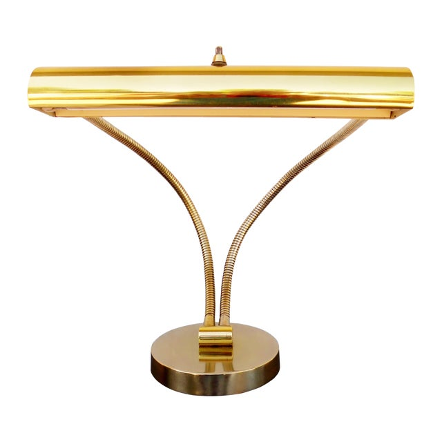 1950s Italian Modernist Brass Desk Lamp - Image 1 of 11