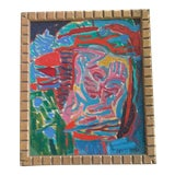 Image of Abstract Face Painting by Walter Chruscinski For Sale