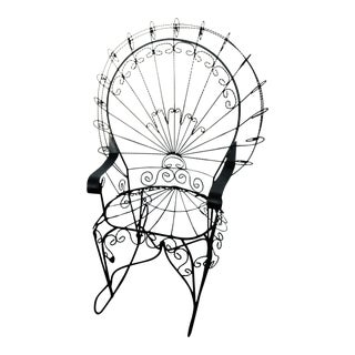 John Salterini Wrought Iron Peacock Rocking Chair For Sale