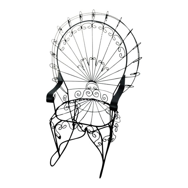 Wrought Iron Peacock Rocking Chair For Sale