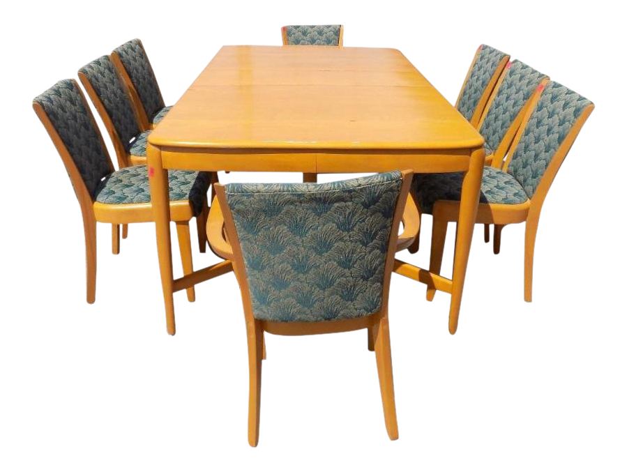 1930s Vintage Heywood Wakefield Dining Room Set   9 Pieces