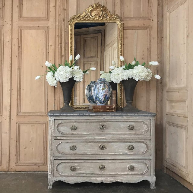 18th Century Country French Painted Commode was considered an essential furnishing in the 1700s as closets were virtually...