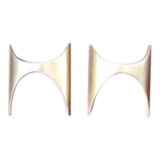 Brasilia Style Knobs Handles Pulls- Set of 2 For Sale