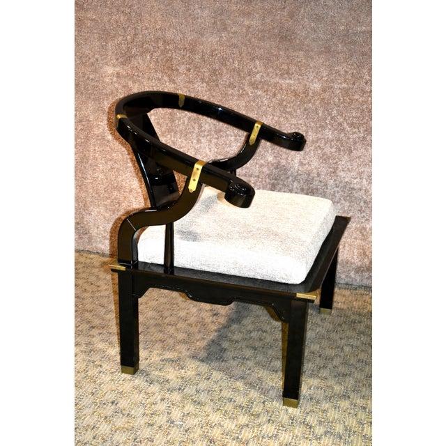 Black 1980s Pallavisini Asian Style Italian Chair For Sale - Image 8 of 12