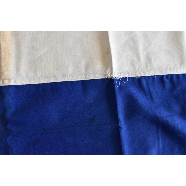Mid 20th Century Vintage Hand-Sewn French Tricolore Flag For Sale - Image 5 of 7
