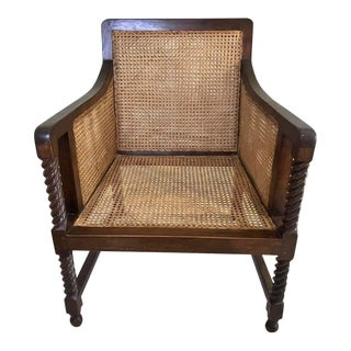 1960s Vintage Turned Wood Vintage King's Chair For Sale