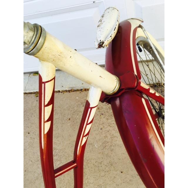 Burgundy, White 1950's Columbia Built Cruiser Bike - Image 5 of 10