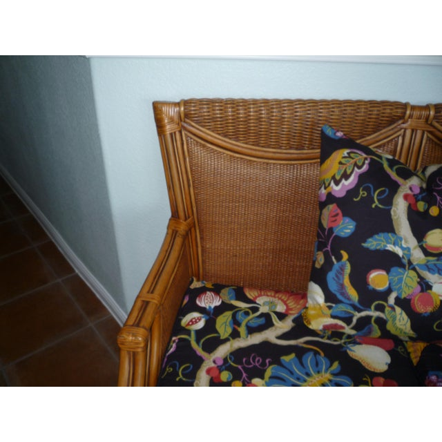 Tommy Bahama Style Bentwood Rattan Settee - Image 5 of 9