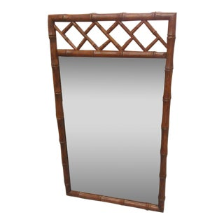 Chippendale Faux Bamboo Mirror For Sale
