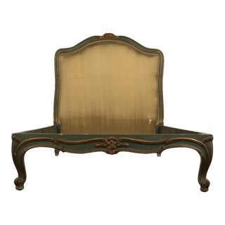 1950 French Louis XV Style Painted Twin Bed For Sale